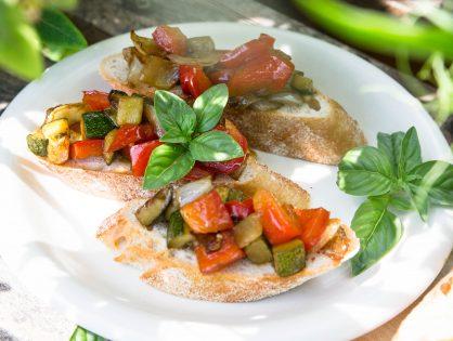 Bruschetta mit Grillgemüse