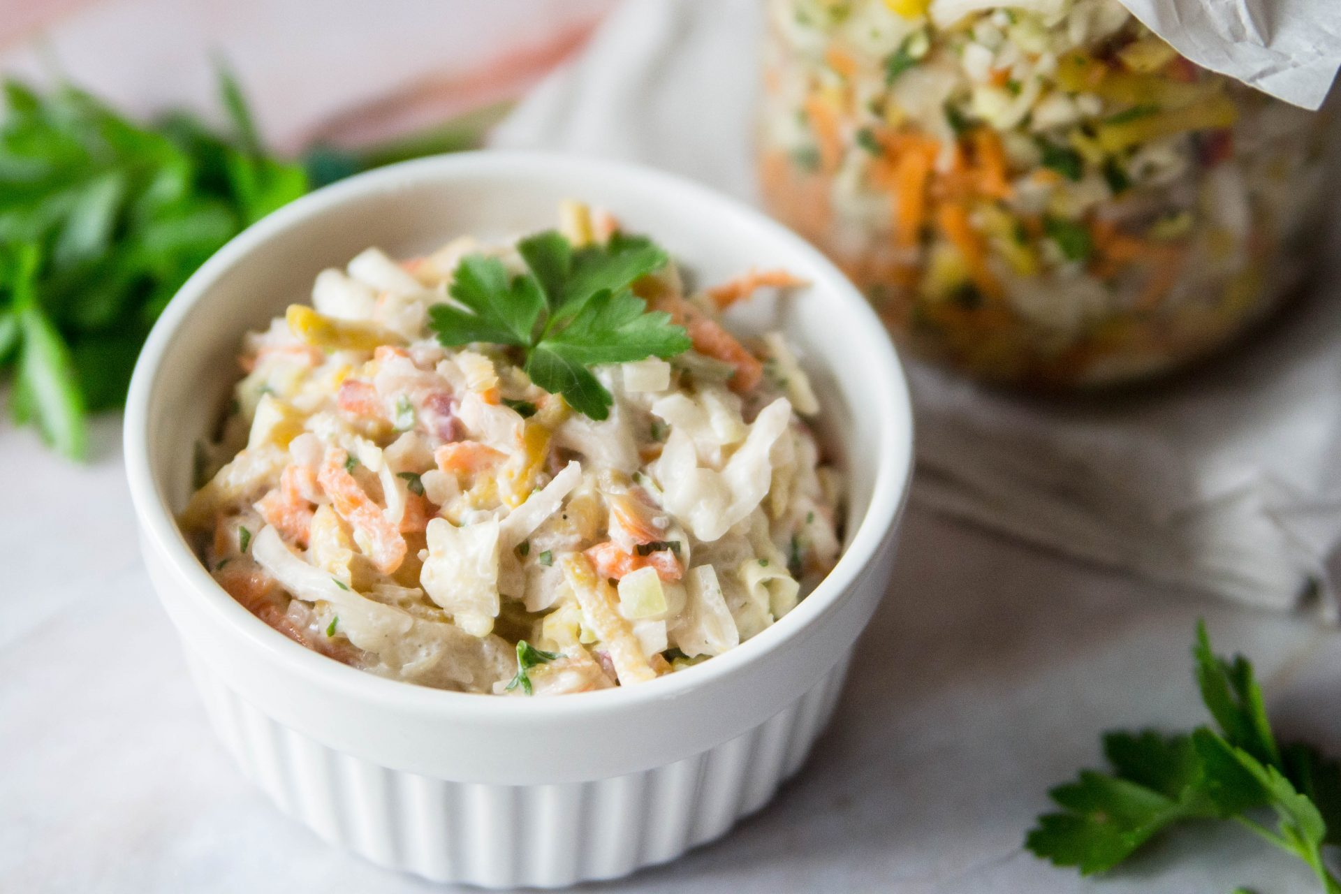 Weißkraut-Karotten-Salat aus dem Glas