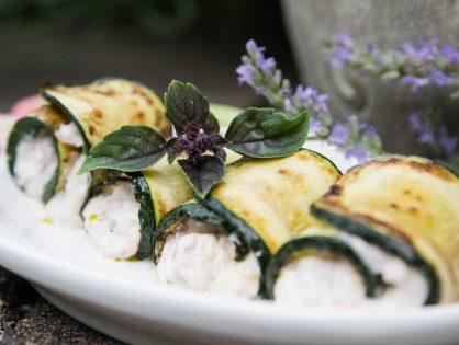 Antipasti: Zucchini-Röllchen mit Thunfisch-Creme (Involtini di Zucchini)