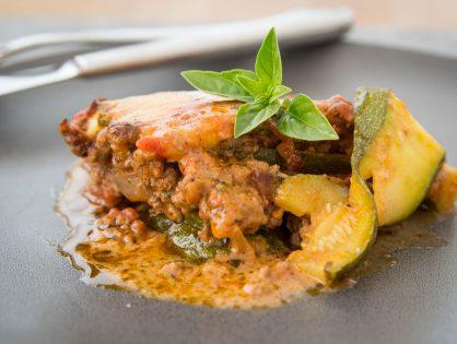 Zucchini-Auflauf nach Lasagne-Art