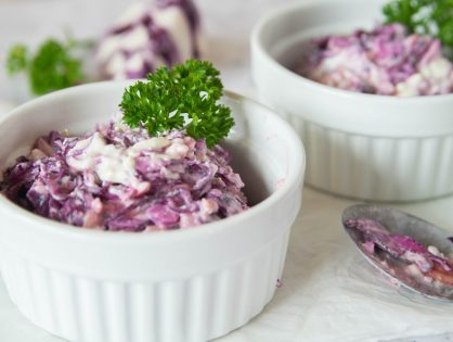 Blaukrautsalat mit Schafskäse