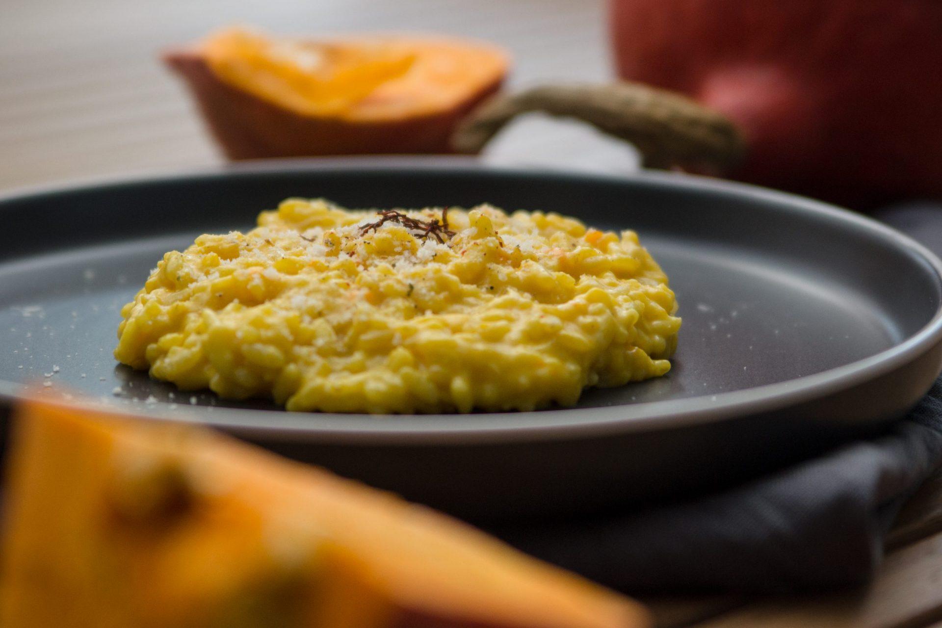 Kürbisrisotto mit Safran und Parmesan