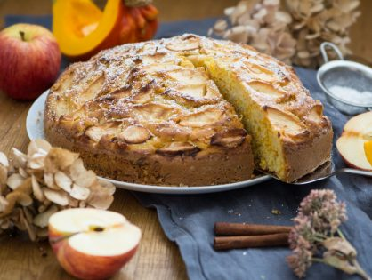 Kürbis-Apfel-Kuchen