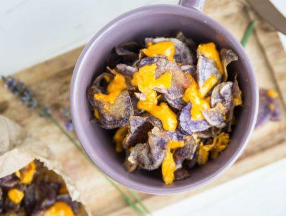Trüffelkartoffel-Chips mit Cheddar