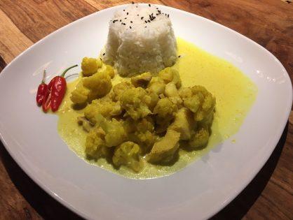 Fisch-Curry mit Karfiol