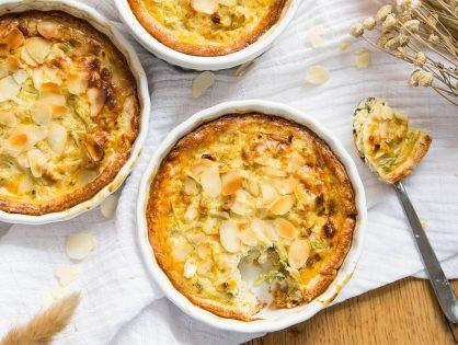 Sellerie-Lauch-Tartelettes (ersatzweise große Muffin-Formen verwenden)